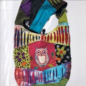 Bohemian Hippie Flower Owl Bag Fabric Patterns